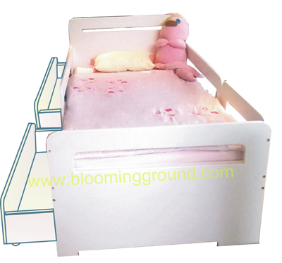 Lively Low Bunk Bed 3 Ft.  (with  drawers as the lower case)