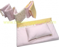 Eiffel bedding set for a  crib :pink/blue