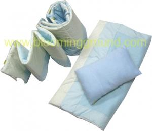 ชุดเครื่องนอนเตียงเด็กอ่อน รุ่น พอลคาด็อท สีฟ้า/สีชมพู
