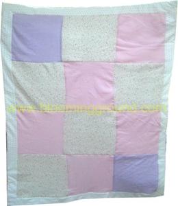 ผ้าห่มเด็กอ่อน ควิลท์ สีชมพู