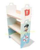 Stackable shelves 'Pirate'  (ชั้นหนังสือเด็ก รุ่น  โจรสลัด)