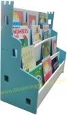'Castle' book shelf - blue (ชั้นหนังสือเด็ก รุ่น  แคสเซิล  สีฟ้า)