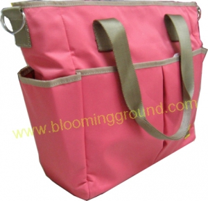 Sporty nappy bag with thermal pocket-Old rose
