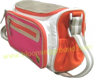 Love nappy bag – pink & orange color